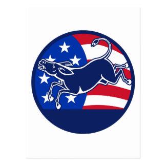 Cartão Postal Bandeira de Democrata do asno