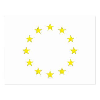 Cartão Postal Bandeira de Europa - bandeira européia - União