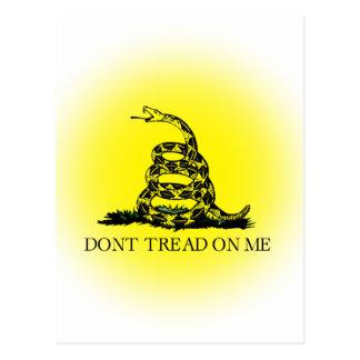 Cartão Postal Bandeira de Gadsden do Sunburst