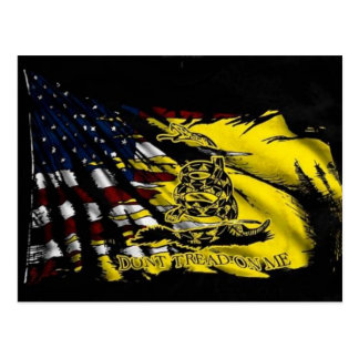 Cartão Postal Bandeira de Gadsden - liberdade ou morte