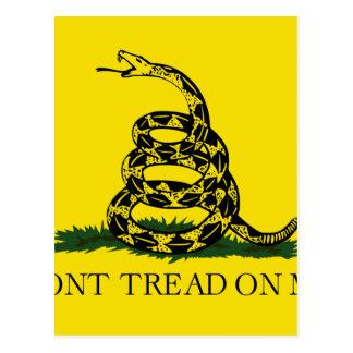 Cartão Postal Bandeira de Gadsden - não pise em mim