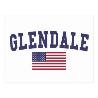 Cartão Postal Bandeira de Glendale CA E.U.