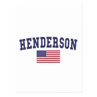 Cartão Postal Bandeira de Henderson E.U.