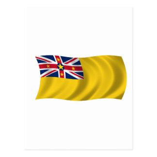 Cartão Postal Bandeira de Niue