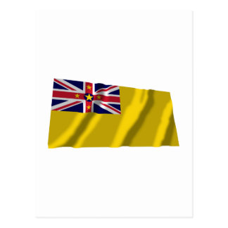 Cartão Postal Bandeira de ondulação de Niue