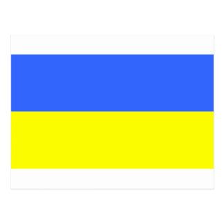 Cartão Postal Bandeira de Ucrânia