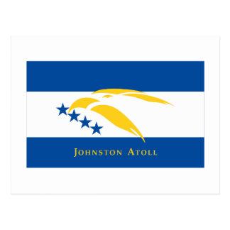 Cartão Postal Bandeira do atol de Johnston