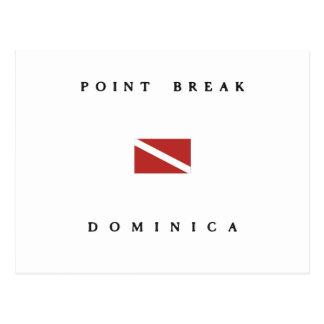 Cartão Postal Bandeira do mergulho do mergulhador de Dominica da