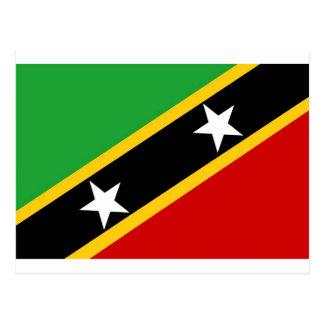 Cartão Postal Bandeira do santo Kitts e do Nevis