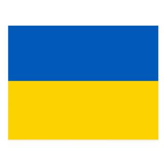 Cartão Postal Bandeira do ucraniano de UCRÂNIA