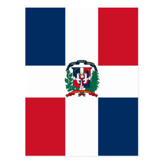 Cartão Postal Bandeira dominiquense por todo o lado no design