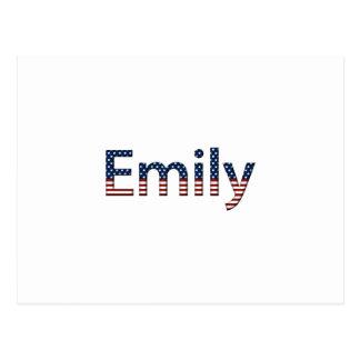 Cartão Postal Bandeira dos Estados Unidos de Emily