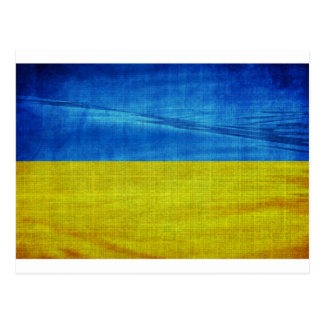 Cartão Postal Bandeira estilizado de Ucrânia