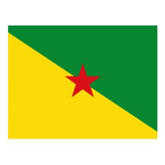 Cartão Postal Bandeira GF de Guyane