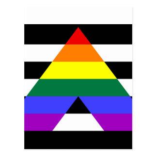 Cartão Postal Bandeira reta do aliado
