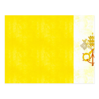 Cartão Postal Bandeira retro da Cidade do Vaticano do vintage