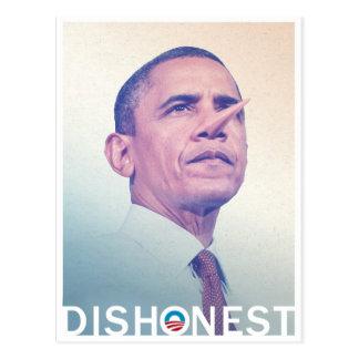 Cartão Postal Barack Hussein Obama Pinocchio desonesto