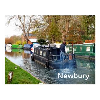 Cartão Postal Barco em Newbury