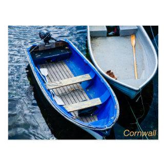 Cartão Postal Barcos de fileira Cornish