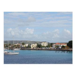 Cartão Postal Barcos de navigação do porto de Bonaire Kralendijk