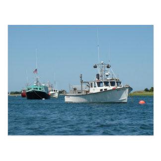 Cartão Postal Barcos do porto de Chatham