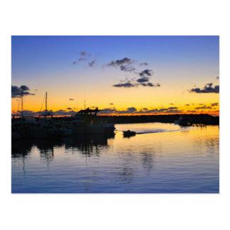 Cartão Postal barcos no porto