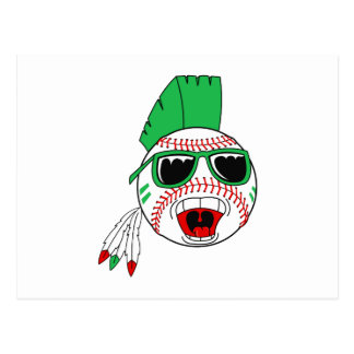 Cartão Postal Basebol verde do mohawk