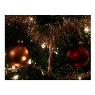 Cartão Postal Bastão de doces do feriado da árvore de Natal II e