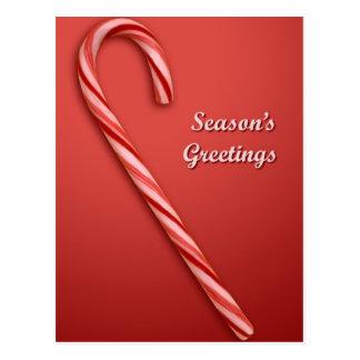 Cartão Postal Bastão de doces do Natal