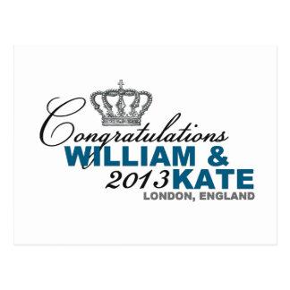 Cartão Postal Bebê real 2013: Parabéns William & Kate