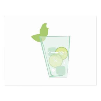Cartão Postal Bebida da hortelã