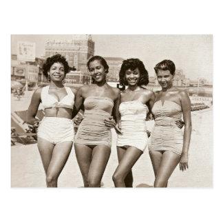 Cartão Postal Belezas da praia do vintage