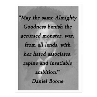 Cartão Postal Bens omnipotentes - Daniel Boone