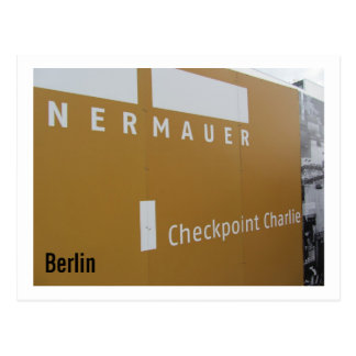 Cartão Postal Berlim Checkpoint Charlie