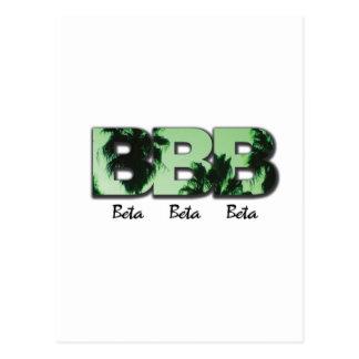 Cartão Postal Beta beta beta palmas verdes