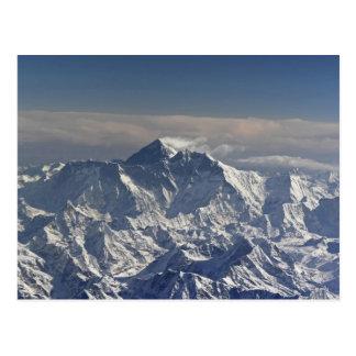 Cartão Postal BHUTAN. Neve eterno na montanha de Everest,