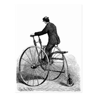 Cartão Postal Bicicleta da roda do Victorian três do triciclo do