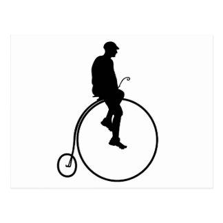 Cartão Postal Bicicleta do Farthing da moeda de um centavo