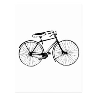 Cartão Postal Bicicleta feita sob encomenda do vintage do fundo