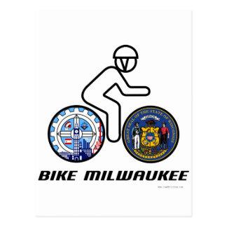 Cartão Postal Bicicleta Milwaukee