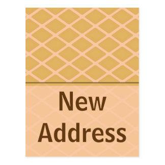 Cartão Postal biege novo do endereço