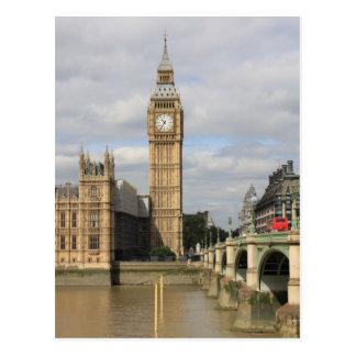 Cartão Postal Big Ben e casas do parlamento - Londres