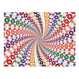 Cartão Postal Bilhar/espiral bolas de piscina: