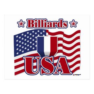 Cartão Postal Bilhar EUA