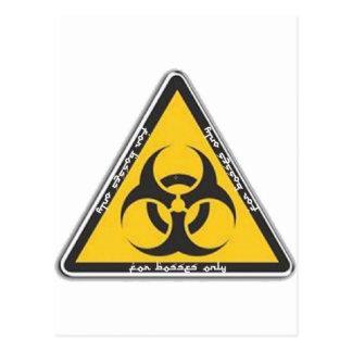Cartão Postal biohazard