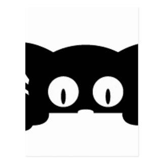 Cartão Postal black kitten gatinho preto