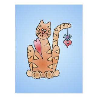 Cartão Postal BLUEBIRD do GATINHO por SHARON SHARPE