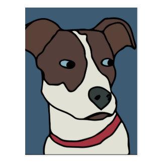 Cartão Postal Bluebird os desenhos animados do cão do salvamento