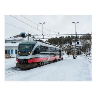 Cartão Postal BM norueguês 93 das estradas de ferro do estado em