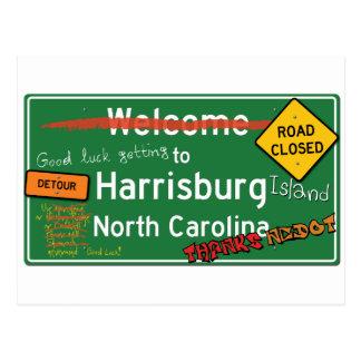 Cartão Postal Boa vinda a Harrisburg North Carolina